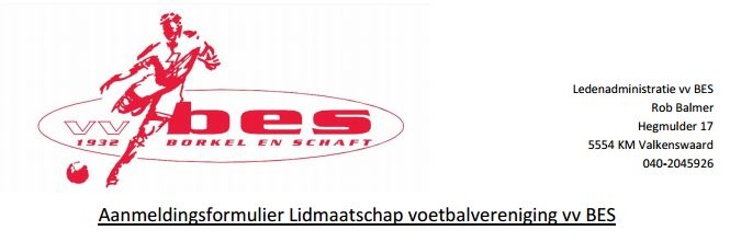 aanmeldformulier VV BES