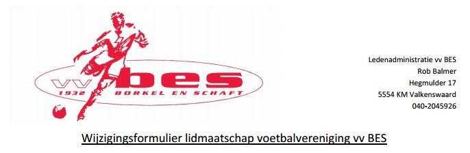 wijziging lidmaatschap VV BES