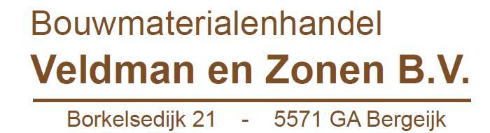 Bouwmaterialenhandel Veldman en Zonen B.V.